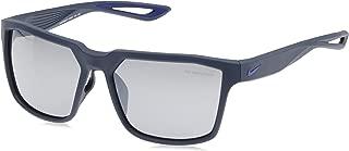 EV0917-404 Bandit Frame Grey with Silver Flash Lens Sunglasses, Matte Obsidian/Deep Royal Blue