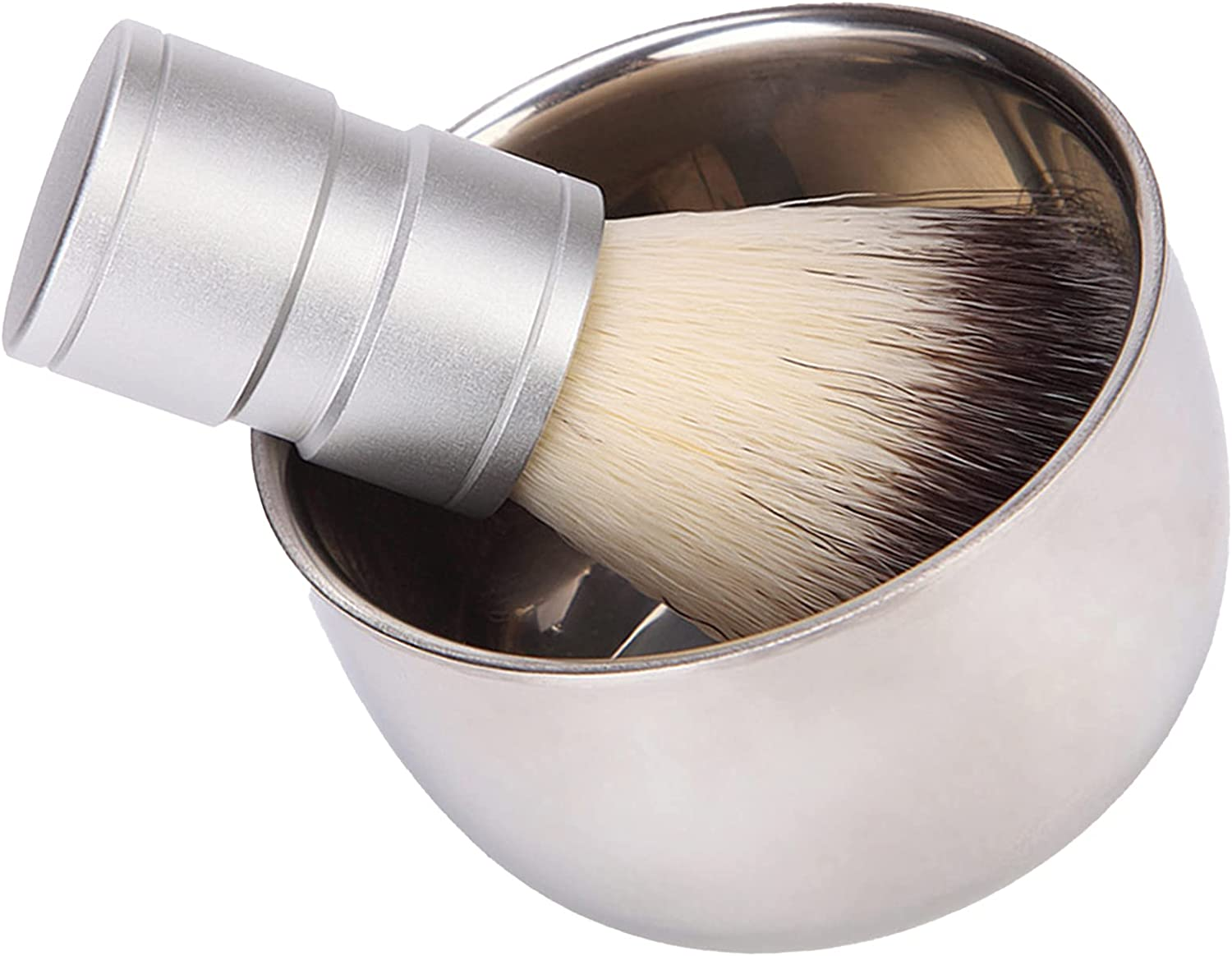 Raleigh Mall Leyeet Stainless Steel Shaving Soap Bowl Direct stock discount Mens Set in 2 1