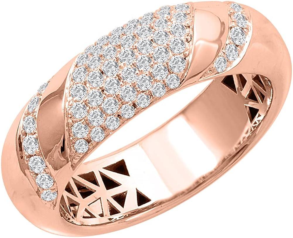 0.40 Carat Unisex Diamond Wedding Band Ring in 14K Gold