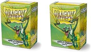 Dragon Shield Matte 200, Apfel Grün / Apple Green Manga de la Tarjeta (2 Packs, 2x100) para TCGs Pokemon MTG Magic