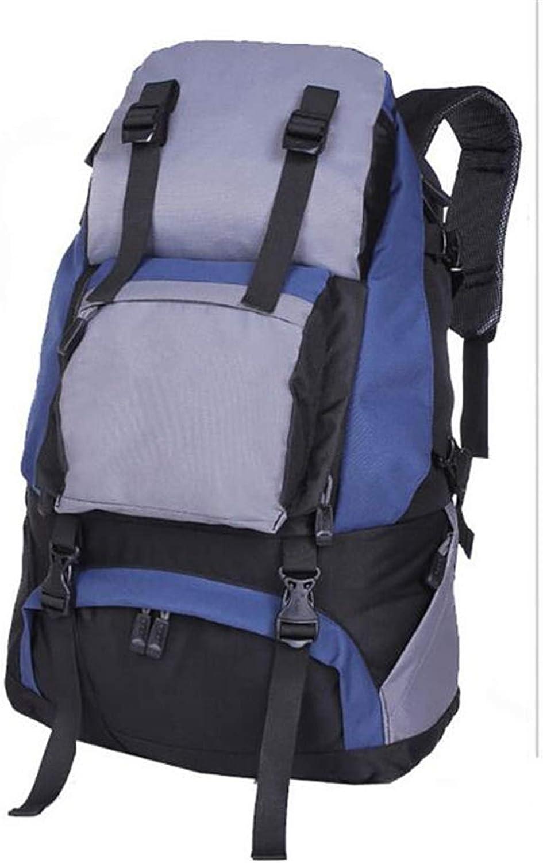 AZZXC Outdoor Rucksack 45L wasserdicht und tragbar Bergsteigen Rucksack Harz Mesh zurück atmungsaktiv Reise Sporttasche