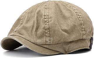 Men And Women Washed Cotton Octagon Beret Hat Outdoor Leisure Newsboy Caps Hats & Caps (Color : Bronze)