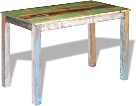 Festnight Dining Table Console Table Kitchen Furniture Solid Reclaimed Wood 115x60x76 cm