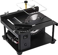 Sierra de mesa portátil de sobremesa, Pequeña sierra de mesa de madera multifuncional, profundidad de corte 35 mm, Mini máquina de sierra de mesa portátil, para metal, corte de plástico DIY Model Maki