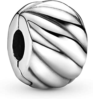 Pandora Women's 925 Sterling Silver Feathered Clip Charm - 791752