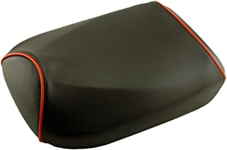 Honda Ruckus Seat COVER Black Carbon Fiber with Piping Seat Cover (Red Piping)