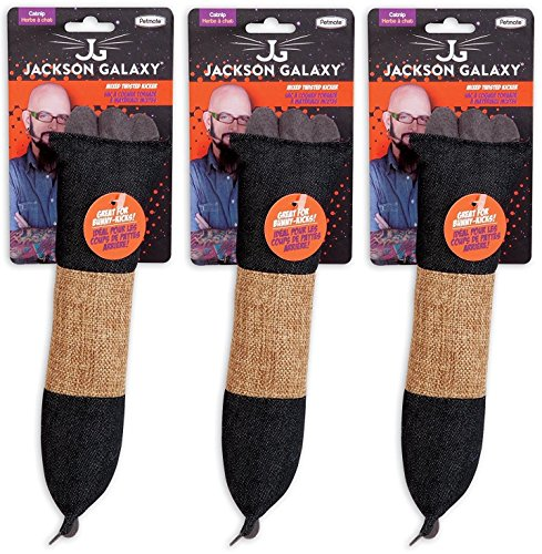 Petmate Pack of 3 Jackson Galaxy Denim and Sisal Twisted Kicker Toys