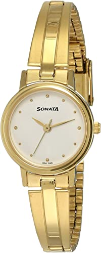 Sonata Analog White Dial Women's Watch NM8096YM04/NN8096YM04