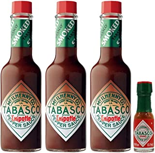 Chipotle Tabasco 57ml - Pack of 3 and Mini Tabasco