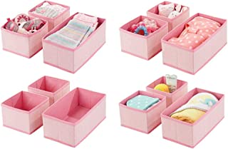 mDesign organisateur de tiroir (lot de 12) – boite de rangement respirant pratique pour langes, bavoirs, etc – rangement t...