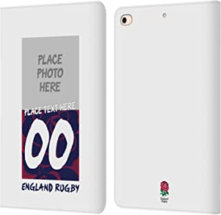 Custom Customized Personalized England Rugby Union 1871 Design 2016/17 Leather Book Wallet Case Cover Compatible for iPad Mini (2019)