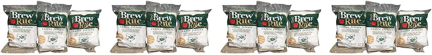 Brew Rite Rockline Wrap Oakland Mall Around Coffee 12-Pac Filters Max 40% OFF Percolator