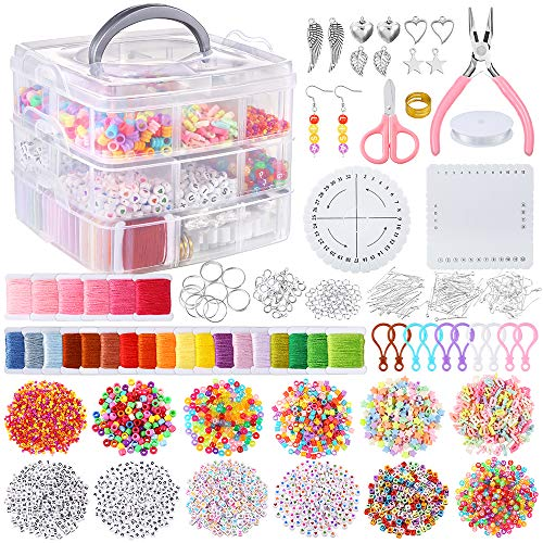 PP OPOUNT 3740 PCS Friendship Bracelet Kit with String and Letter...