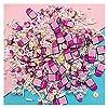 NIANTU10 100gのポリマーホットクレイを振りかけるピンクのミルクボトルのためのピンクの牛乳の瓶小さなかわいいプラスチッククリイアクセサリースクラップブックネイルアートステッカー 贈り物 (Color : Colorful)