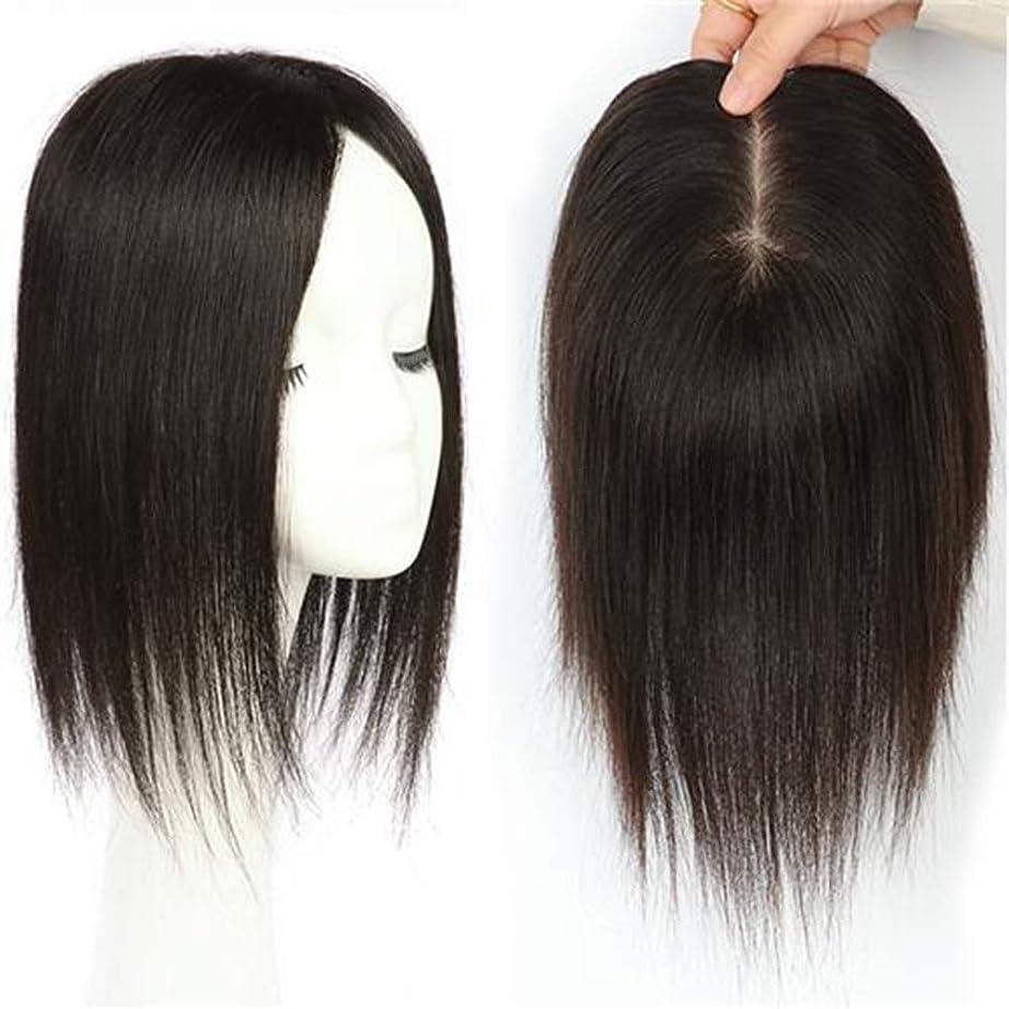 委任する主張威信BOBIDYEE さん手の針本物のかつらの部分的なかつら部分ロングストレートヘアの本物のロングストレートヘア (色 : Natural color, サイズ : 30cm)