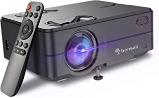 Movie Projector, Support 1080P 120'' Display, Portable Home Theater Projector with 4500Lux and 50,000Hrs LED Lamp Life, Co...