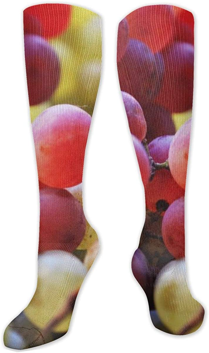 Grape Berries Knee High Socks Leg Warmer Dresses Long Boot Stockings For Womens Cosplay Daily Wear