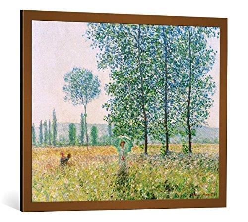 Kunst für Alle Cuadro con Marco: Claude Monet Felder im Fr