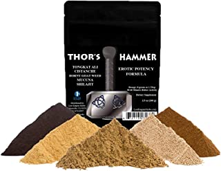Thor's Hammer Formula - Organic Supplement - Bedroom Formula - Rich in Nitric Oxide, Increases Blood Flow and Dopamine Levels - Paleo and Vegan Friendly (100 g)