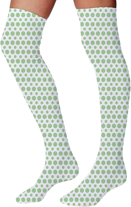 Men's and Women's Fun Socks,50s Pop Art Style Triangular Stripes Spiral Hoops Retro Poster Print