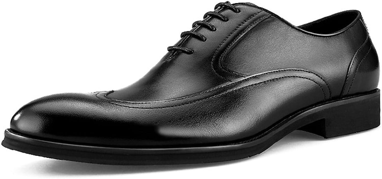 Mannens läderskor Springaa Business Lace Pointed Pointed Pointed manlig brittisk stil  den nyaste
