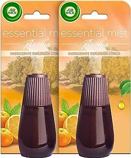 Air Wick Essential Mist Duplo Ambientador Fragancia Explosión Cítrica - 2 Recambios