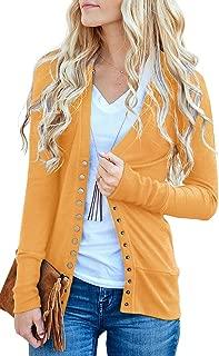 Women's V-Neck Button Down Knitwear Long Sleeve Soft Basic Knit Cardigan Sweater