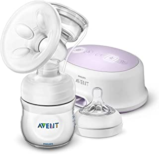 Philips Avent Comfort Single Electric Breast Pump, Includes Natural Bottle, Teat and Sealing Disc, SCF332/31