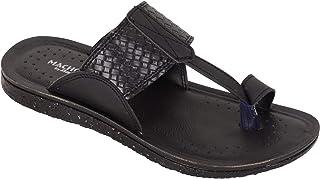 BATA Men Black Classic Formal Slip On Soft Chappal Sandal