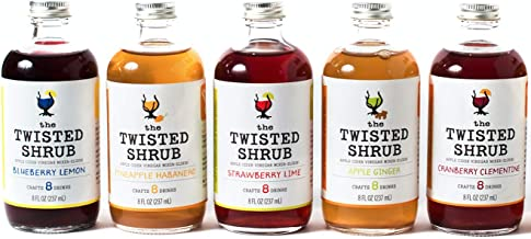 The Twisted Shrub | 5-Flavor Variety Pack | Apple Cider Vinegar Drink Mixers for Healthier Sodas & Cocktails