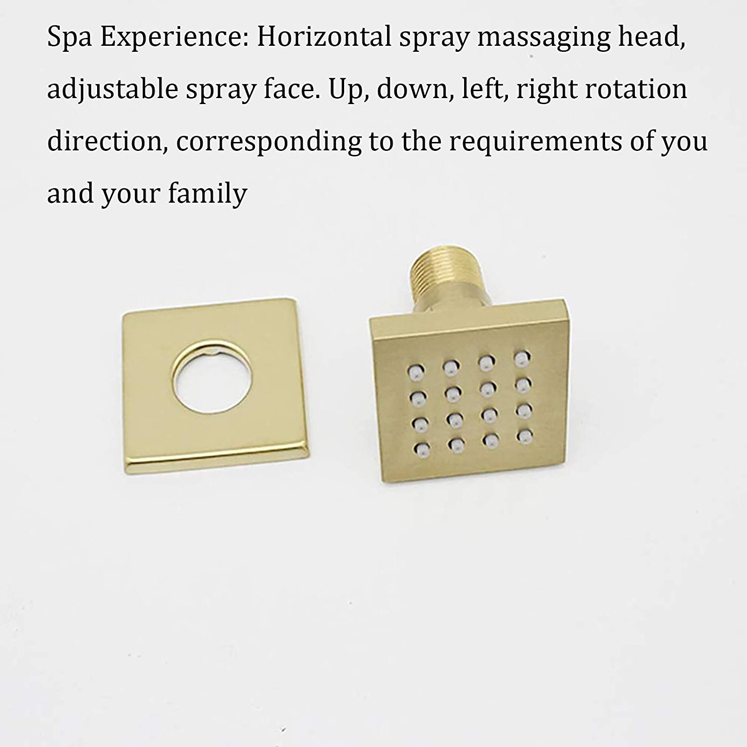 Many Colors are Available,Black b Shower Body Spray Jet 2 Inches Brass Massage Jet Bathroom Faucets Accessories Wall Mount Adjustable Shower Side Jets for Shower Spa