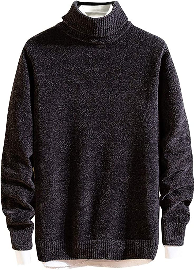 Men's Cardigan Knitted Sweater Long Sleeve Solid Winter Warm Soft Coat