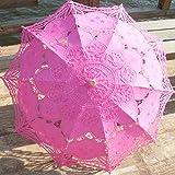 YZMBYUSAN Regenschirm-klassischer eleganter Art-Langer Arm-Hochzeits-Brautregenschirm/Stickerei-Gingham-Sonnenschirm-Regenschirm -