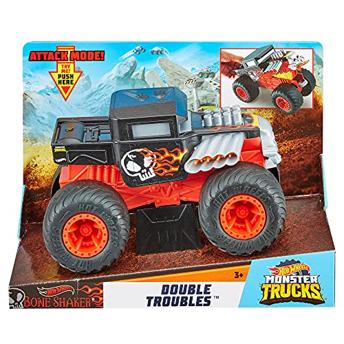 Hot Wheels Monster Trucks 1:24 Double Troubles Bone Shaker, Spielzeugauto GCG07