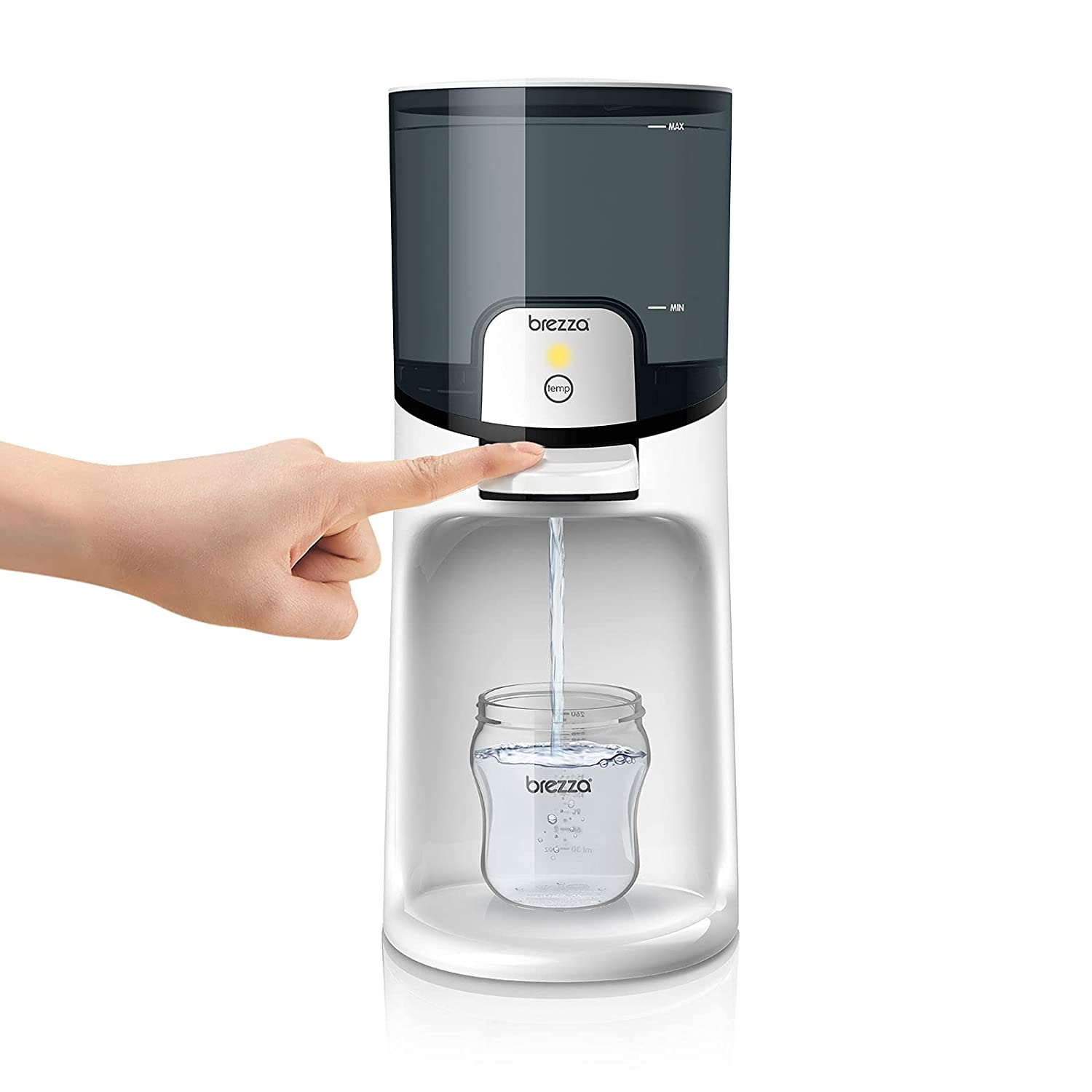Baby Brezza Instant Baby Bottle Warmer – Make Warm Formula Bottle Instantly. Dispenses Warm Water 24/7. 3 Temperatures; No More Waiting with a Traditional Bottle Warmer