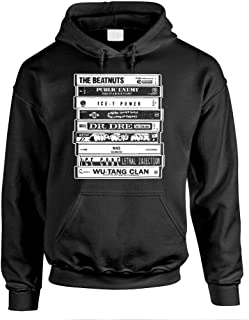 Hip HOP Artists Cassettes Old School Rap - Mens Pullover Hoodie