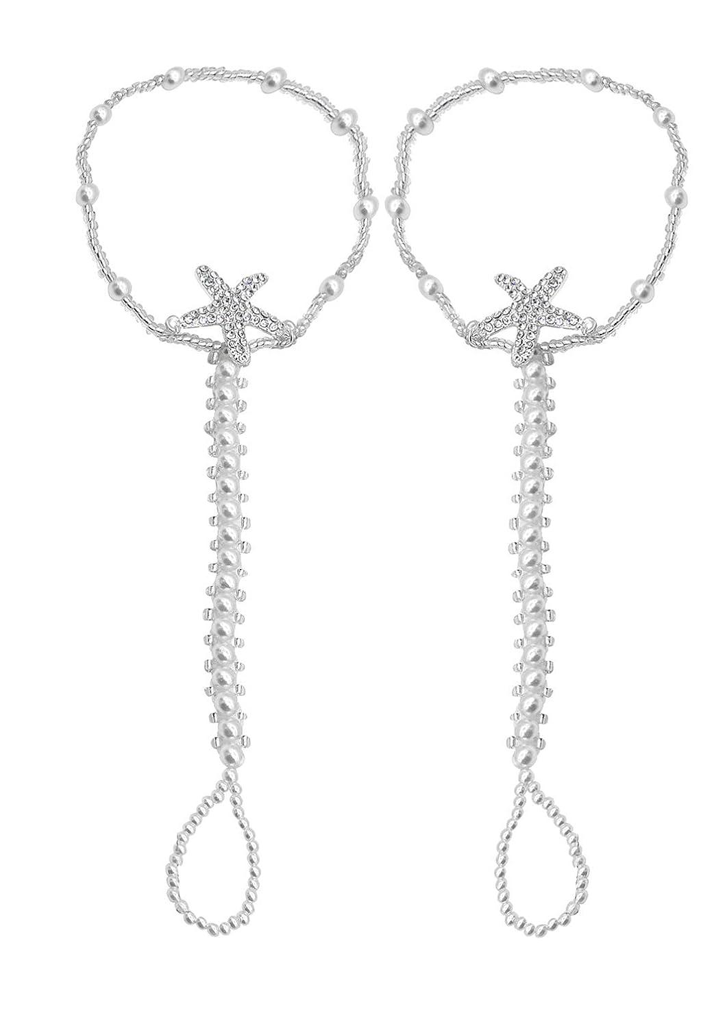 Bienvenu Bohemia Style Wedding Barefoot Sandals Beach Anklet Chain Foot Jewelry