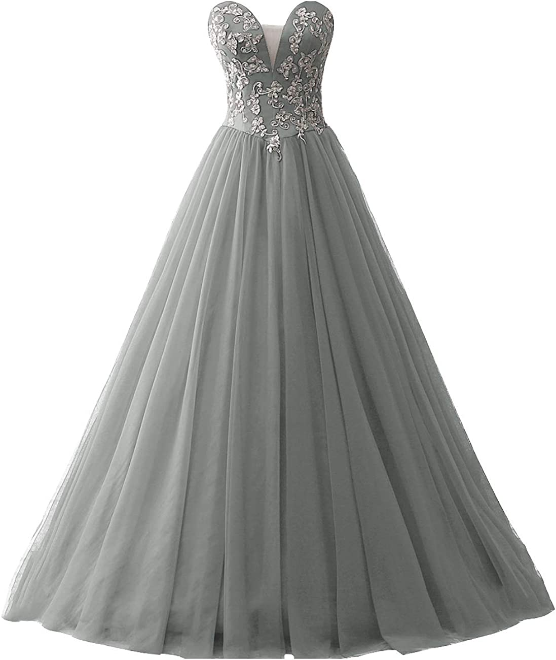 JAEDEN Prom Dresses Ball Gown Quinceanera Dress Tulle Lace Prom Dress Strapless