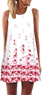 YISUMEI Women's Summer Casual Sleeveless Swing Dress No Pockets