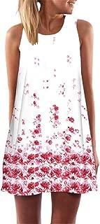 YISUMEI Women's Summer Casual Sleeveless Swing Dress No Pockets