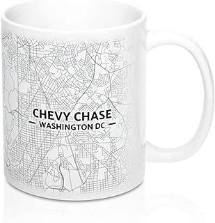 Chevy Chase, Washington DC Map Mug (11 oz)