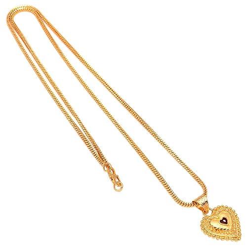 b7ff912ef4a09 1 Gram Gold Necklace Set: Buy 1 Gram Gold Necklace Set Online at ...