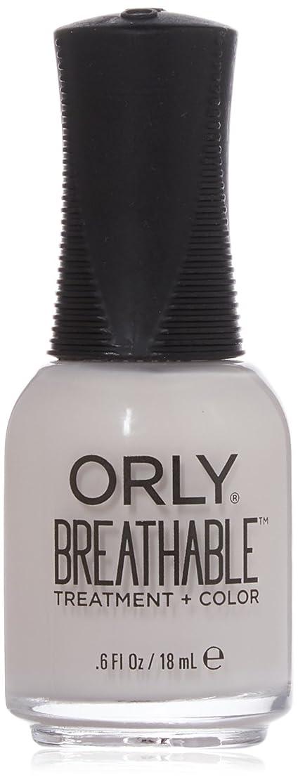 言うキリスト教認証Orly Breathable Treatment + Color Nail Lacquer - Light as a Feather - 0.6oz / 18ml