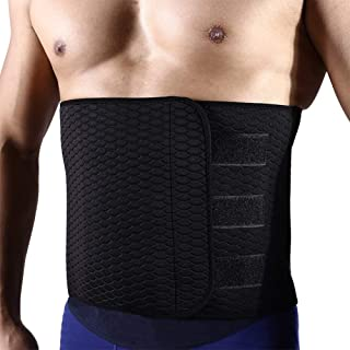 Hero Selected Sweat Waist Trimmer, Neoprene Waist Trainer Adjustable Widened Ab Belt for Men-Weight Loss/Back Support