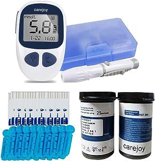 Electronic Blood Glucose Monitor Digital Glucometer Handheld Diabetes Test Meter Kit with Free 50 Test Strips 50 Lancets