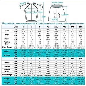 XIAKE Conjunto Ropa Ciclismo para Hombre, Maillot Ciclista Mangas Cortas y Culotte Bicicleta con 5D Gel Pad, Equipacion MTB para Verano