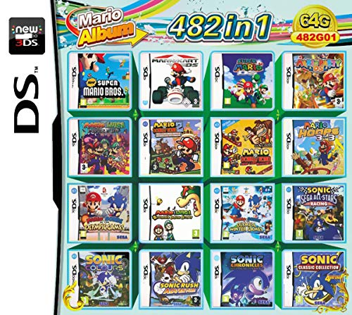 482 Juegos en 1 NDS Game Pack Card Super Combo Cartucho para NDS DS 2DS Nuevo 3DS XL