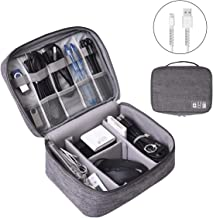 Electronics Organizer, OrgaWise Electronic Accessories Bag Travel Cable Organizer Three-Layer for iPad Mini, Kindle, Hard ...