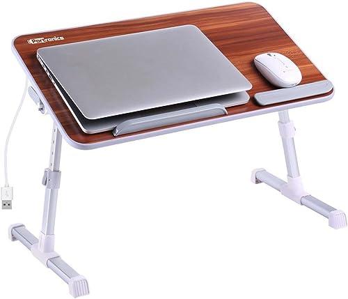 Portronics Adjustable Laptop Table POR-895 (Brown)