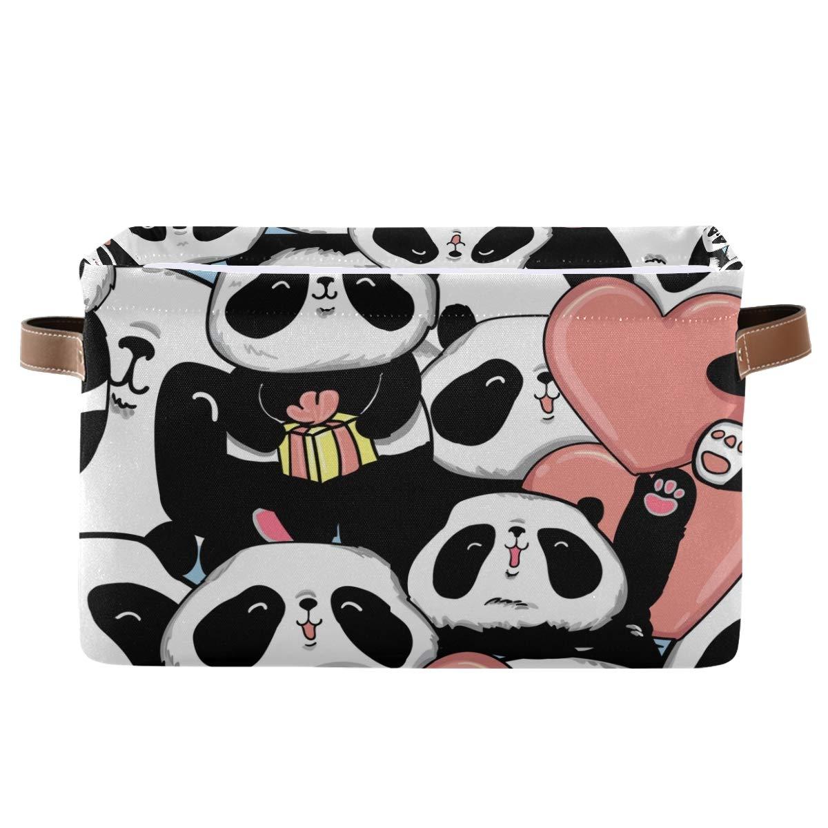 FORMEETY Cute Animal Panda Love Heart Can Detroit Mall Bin Women Storage Kids Max 56% OFF